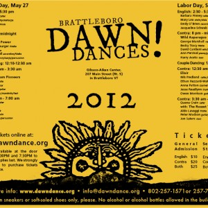 Dawn Dance Poster 2012