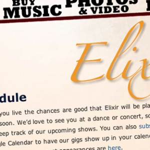 Elixir web site closeup
