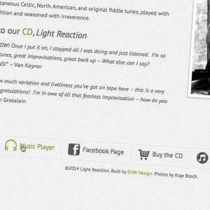 Light Reaction Menu Hover