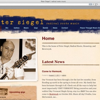 Peter Siegel web site overview