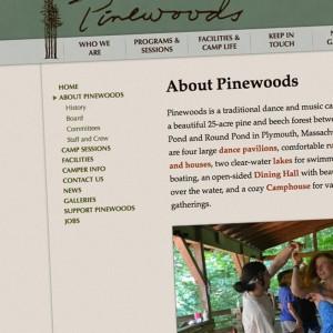 Pinewoods Sidebar Menu