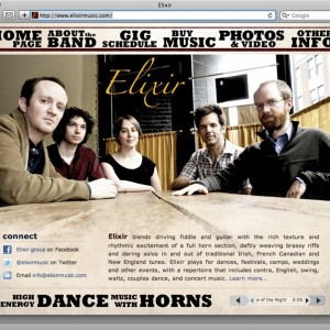 Elixir web site home page