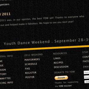 ydw web site closeup